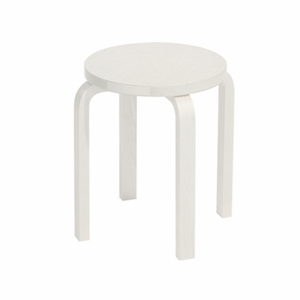 Artek Alvar AaltoE60 - Four Legged Stool - White Lacquered