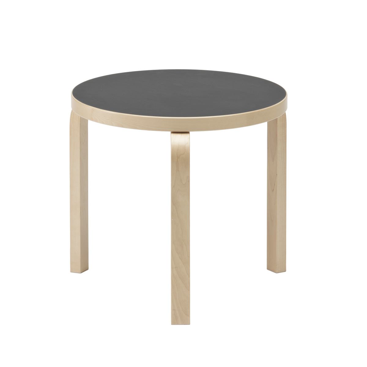 Artek Alvar Aalto 90d 3 Leg Round Table Coffee Tables Side End