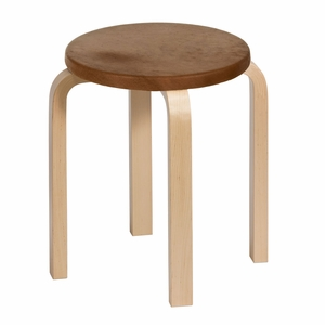 Artek Alvar Aalto E60 - Four Legged Stool - Birch Veneer - Your Own Materials