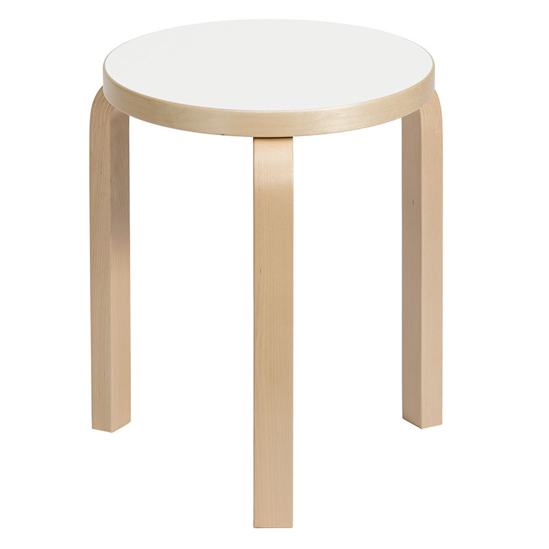 Artek Alvar Aalto Stool 60 - Three Legged Stool - White Laminate  sc 1 st  FinnStyle : stackable wooden stools - islam-shia.org