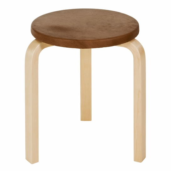 Artek Alvar Aalto Stool 60 - Three Legged Stools - Your Own Fabric