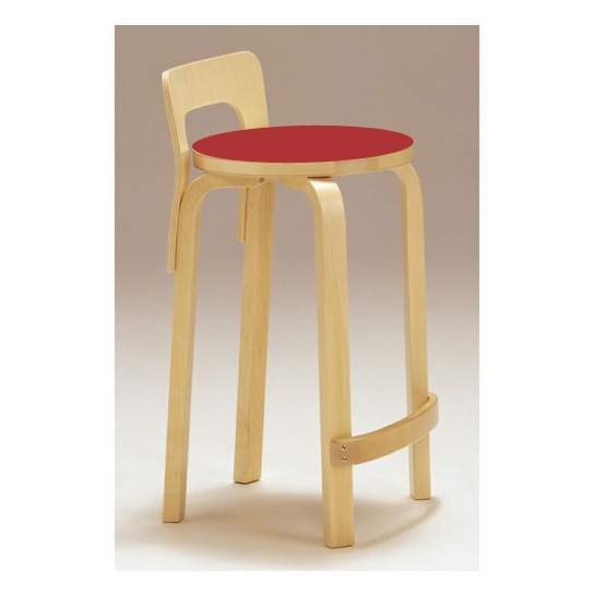 Marvelous Artek K65 Kitchen Bar Stool Red Linoleum Gmtry Best Dining Table And Chair Ideas Images Gmtryco