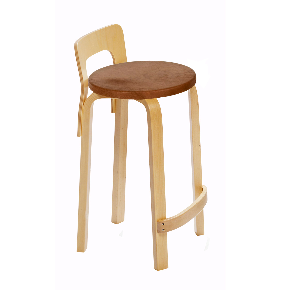 Artek K65   Low Back Kitchen / Bar Stool   Your Own Fabric