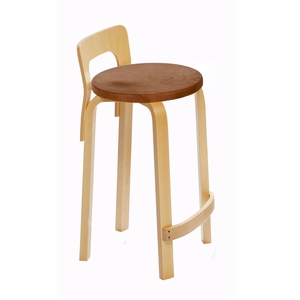Artek K65 - Low Back Kitchen / Bar Stool - Your Own Fabric