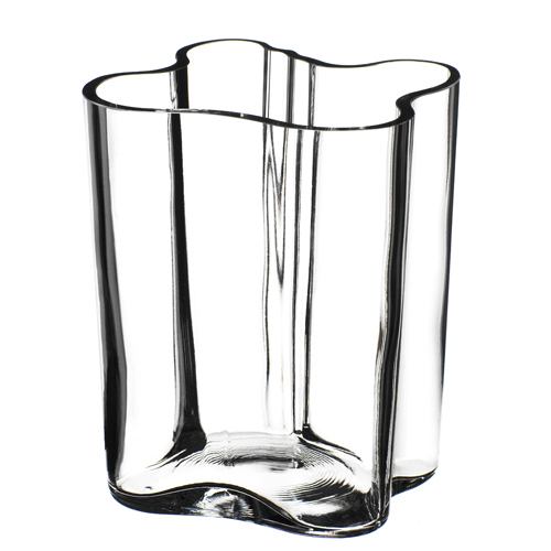 clear aalto savoy vase 7 1 4 discontinued items 12. Black Bedroom Furniture Sets. Home Design Ideas