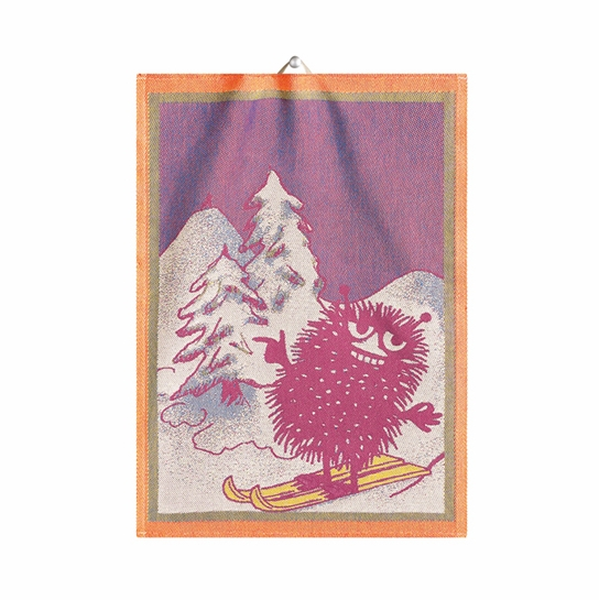 Ekelund Moomin Stinky Skiing Tea Towel