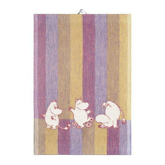 Ekelund Moomin Stripe Blue Tea Towel