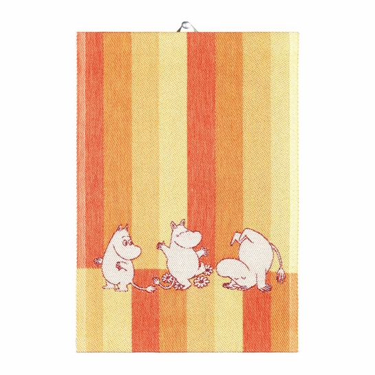 Ekelund Moomin Stripe Orange Tea Towel
