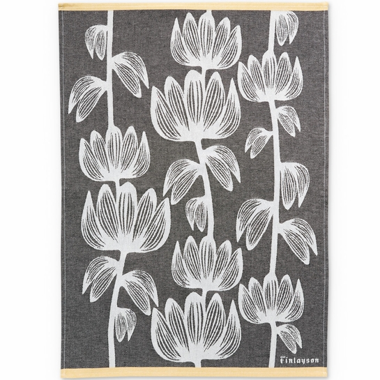 Finlayson Alma Black Kitchen Towel