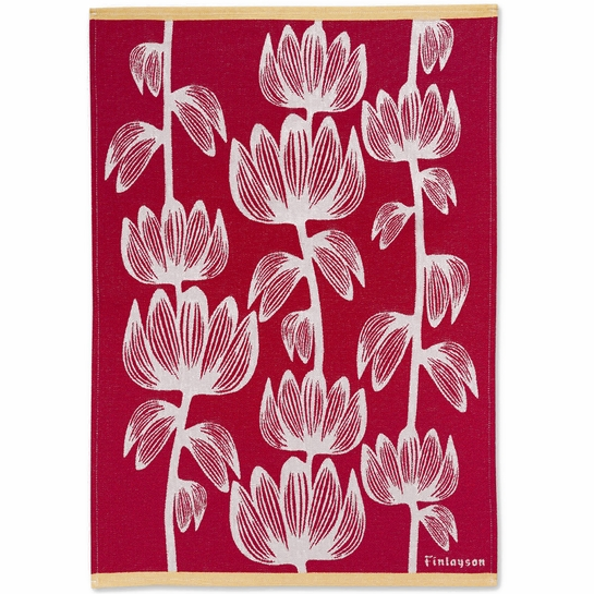Finlayson Alma Red Kitchen Towel