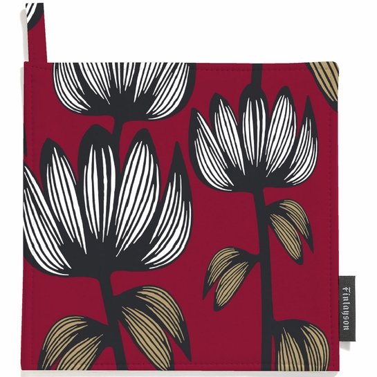 Finlayson Alma Red Pot Holder Set