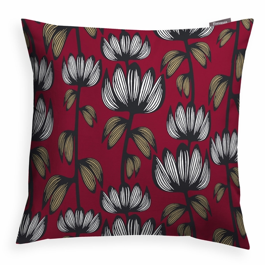 Finlayson Alma Red Throw Pillow