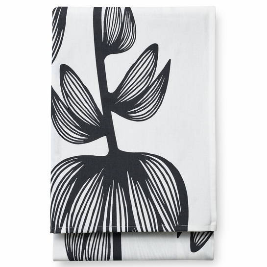 Finlayson Alma White / Black Tablecloth