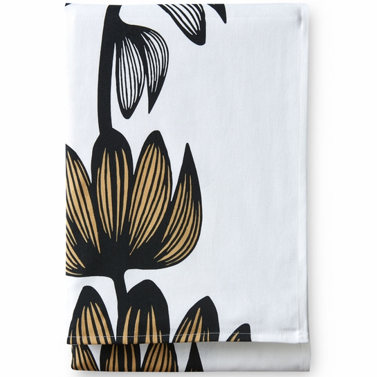 Finlayson Alma White / Gold Tablecloth