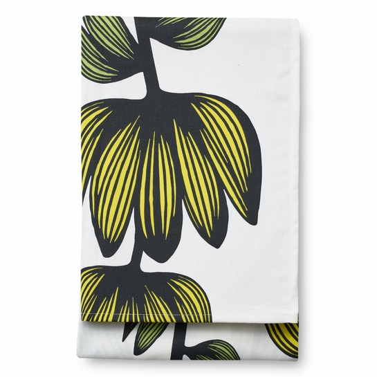 Finlayson Alma White / Yellow Tablecloth