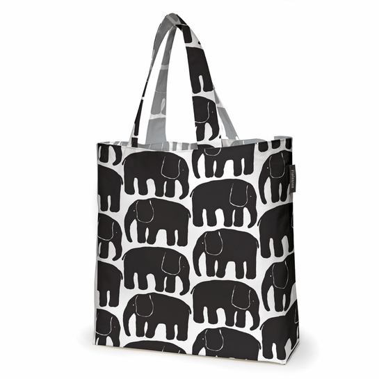Finlayson Elefantti Black / Grey Reversible Shopping Bag