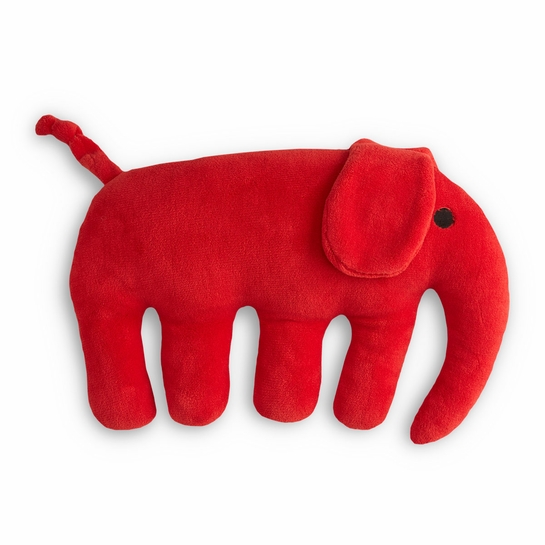Finlayson Elefantti Red Plush Pillow