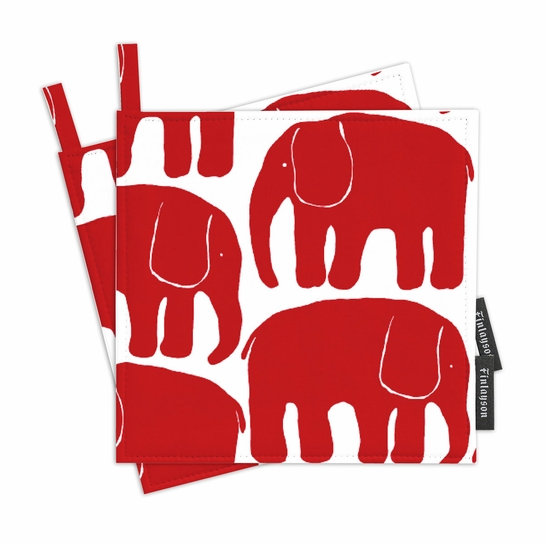 Finlayson Elefantti Red Pot Holder Set