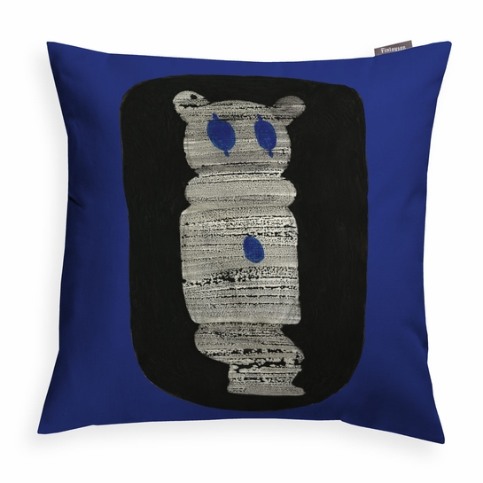 Finlayson Kokkopelle Blue Throw Pillow
