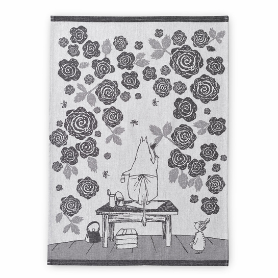 Finlayson Moomin Rose Garden Tea Towel