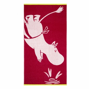 Finlayson Moominmamma Dark Red Bath Towel