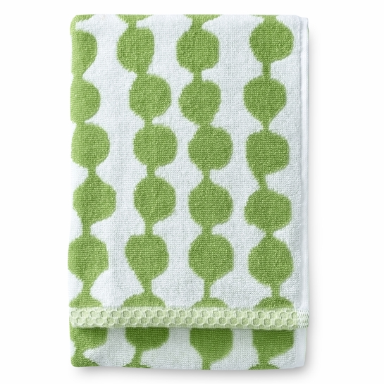 Finlayson Pampula Green / White Hand Towel