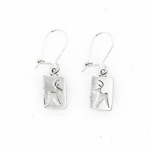 Reindeer Cutout Hook Earrings