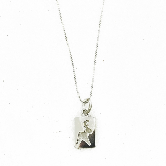 FinnFeelings Reindeer Cutout Silver Necklace