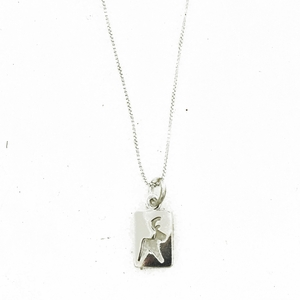 Reindeer Cutout Silver Necklace