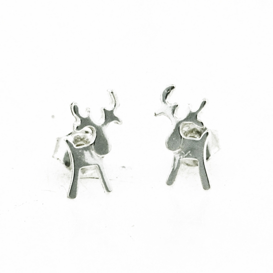 FinnFeelings Reindeer Silver Stud Earrings