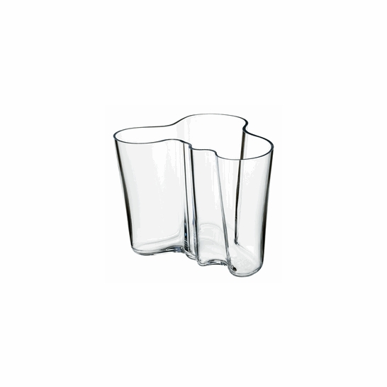 iittala aalto clear vase 4 3 4 iittala alvar aalto vases. Black Bedroom Furniture Sets. Home Design Ideas