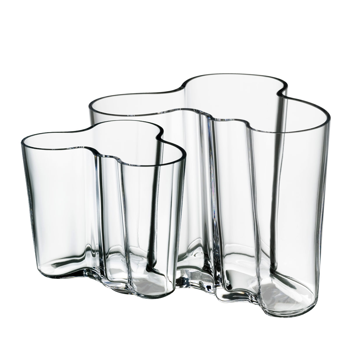 iittala aalto clear vase gift set 3 3 4 4 3 4 iittala aalto clear vases. Black Bedroom Furniture Sets. Home Design Ideas