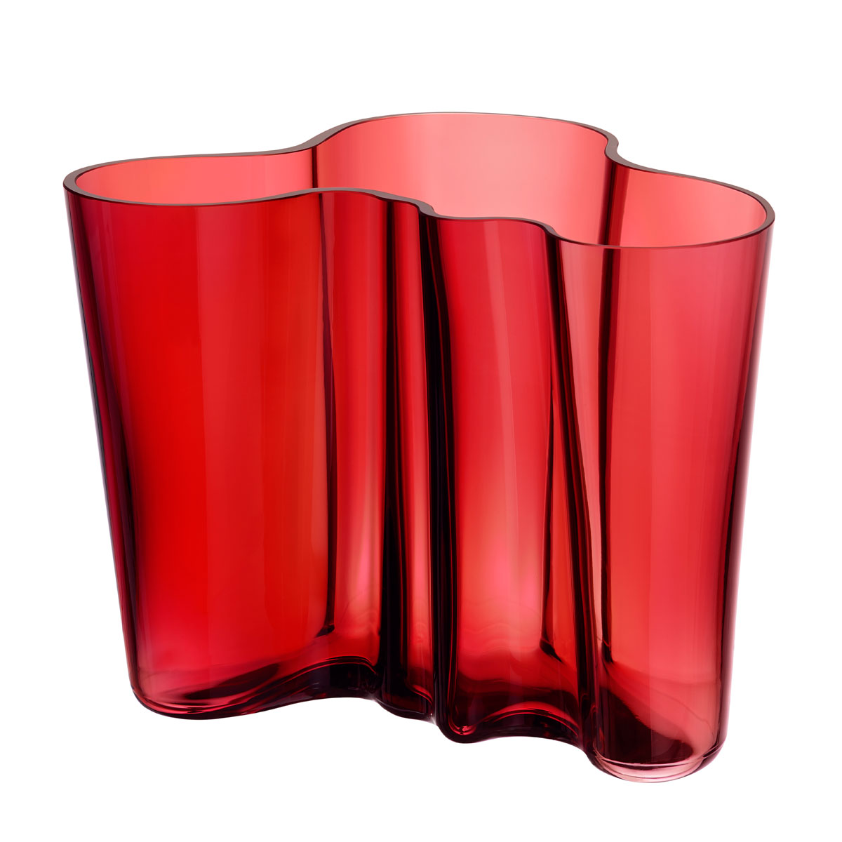 iittala aalto cranberry vase 6 1 4 ready for red. Black Bedroom Furniture Sets. Home Design Ideas