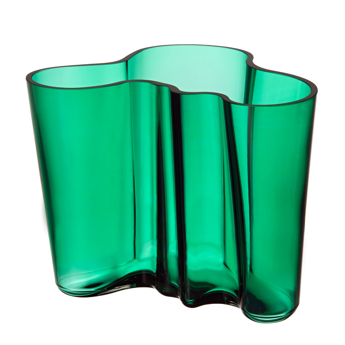iittala aalto emerald vase 6 1 4 iittala alvar aalto vases. Black Bedroom Furniture Sets. Home Design Ideas
