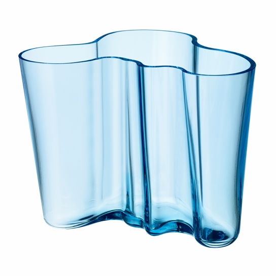 iittala aalto light blue vase 6 1 4 iittala alvar aalto vases. Black Bedroom Furniture Sets. Home Design Ideas