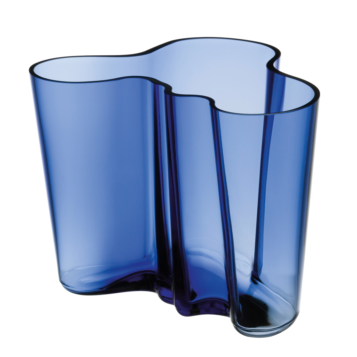 iittala aalto ultramarine 39 finland 100 39 vase 6 1 4. Black Bedroom Furniture Sets. Home Design Ideas