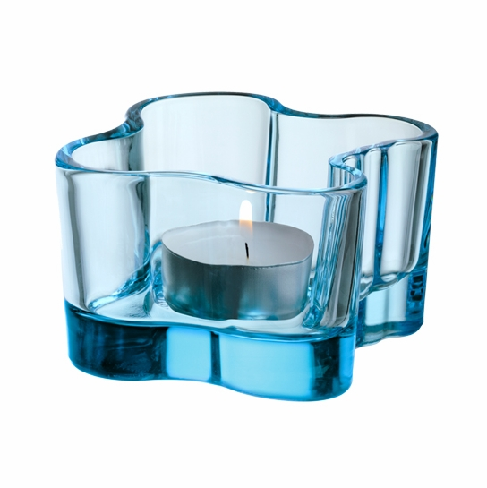 iittala Aalto Votive Candle Holder - Light Blue
