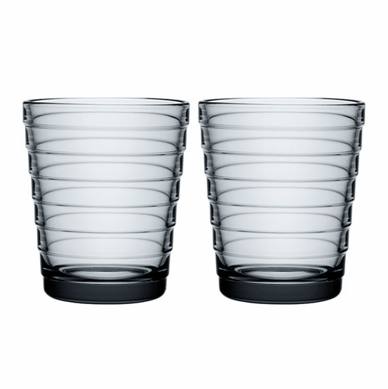 iittala Aino Aalto Grey Medium Tumblers - Set of 2