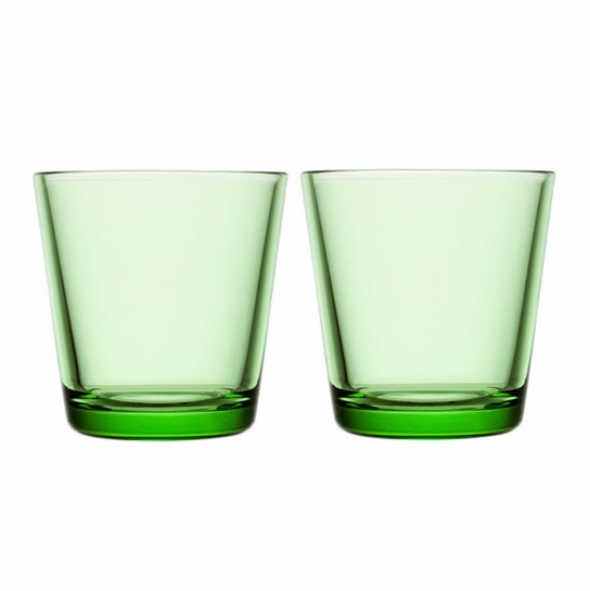 iittala Kartio Apple Green Medium Tumbler - Set of 2