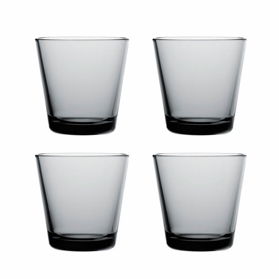 Iittala Kartio Grey Medium Tumbler Gift Set of 4