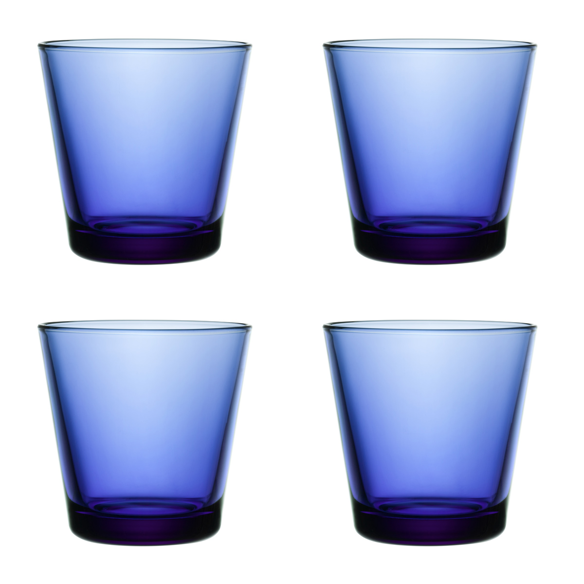 iittala kartio ultramarine 39 finland 100 39 medium tumbler set of 4 finland 100th anniversary. Black Bedroom Furniture Sets. Home Design Ideas