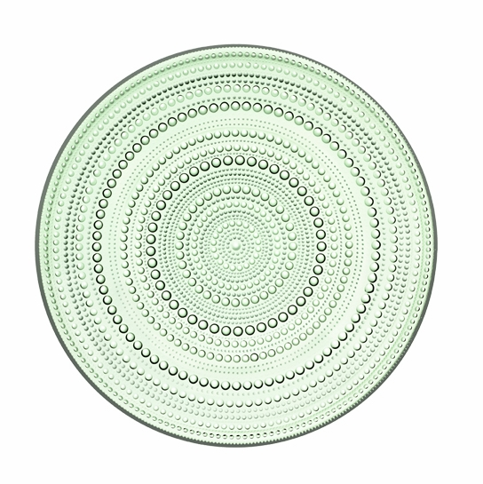 iittala Kastehelmi Dewdrop Apple Green Serving Plate