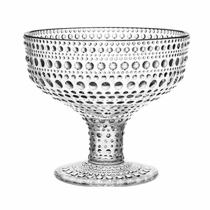 iittala Kastehelmi Dewdrop Clear Footed Bowl