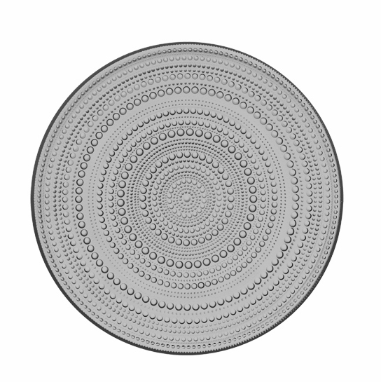 Iittala Kastehelmi Grey Serving Plate