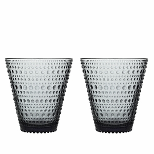 iittala Kastehelmi Grey Tumblers - Set of 2