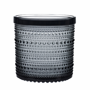 iittala Kastehelmi Grey Large Jar