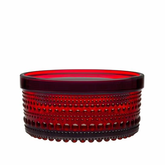iittala Kastehelmi Cranberry Small Jar