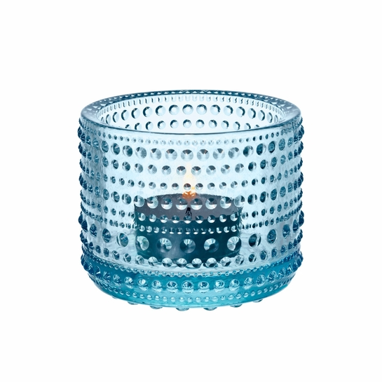 iittala Kastehelmi Light Blue Candle Holder