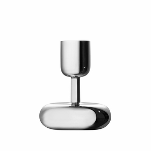 iittala Nappula Stainless Steel Short Candle Holder