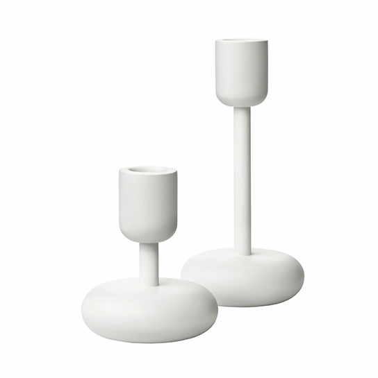 iittala Nappula White Candle Holders– Set of 2